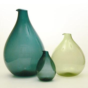 Three BLOMKULLA jugs, Kjell Blömberg (Gullaskruf, 1963) - Art Glass