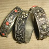 1940's-50's Italian silver and coral or glass bangles