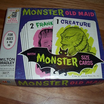 "1964 Milton Bradley-""Monster Old Maid""-card game - Games"