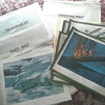 Huge Lot of Charles Hubble Aviation Lithograph Prints Reproduced from TRW Inc. Calendars /Circa 20th Century  - Fine Art