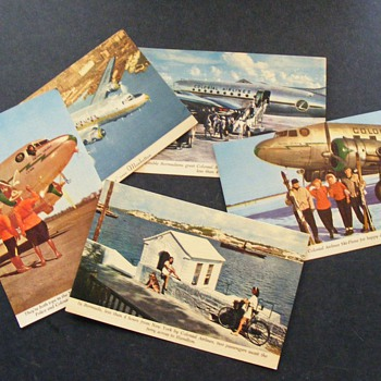 Colonial Airline Postcards - Advertising