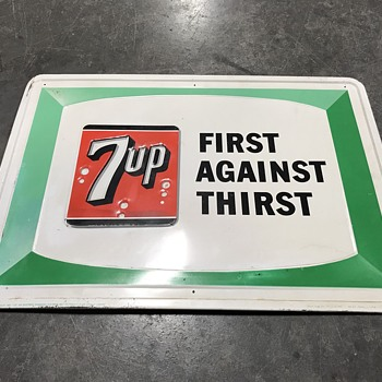 7 Up soda sign 1966 - Advertising