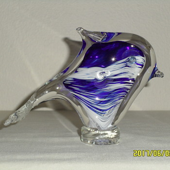 NOSLO Art Glass Dolphin