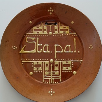 brouwer spreukschotel (tekstplate) - Pottery