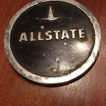 "Allstate 3"" Round Metal circular cap"