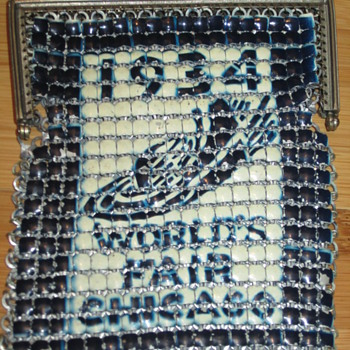 1934 Chicago World's Fair Witing and Davis mesh purse.  - Bags