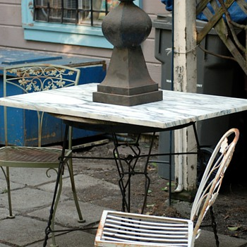 Twisted Iron Ice Cream Parlor Table - Furniture