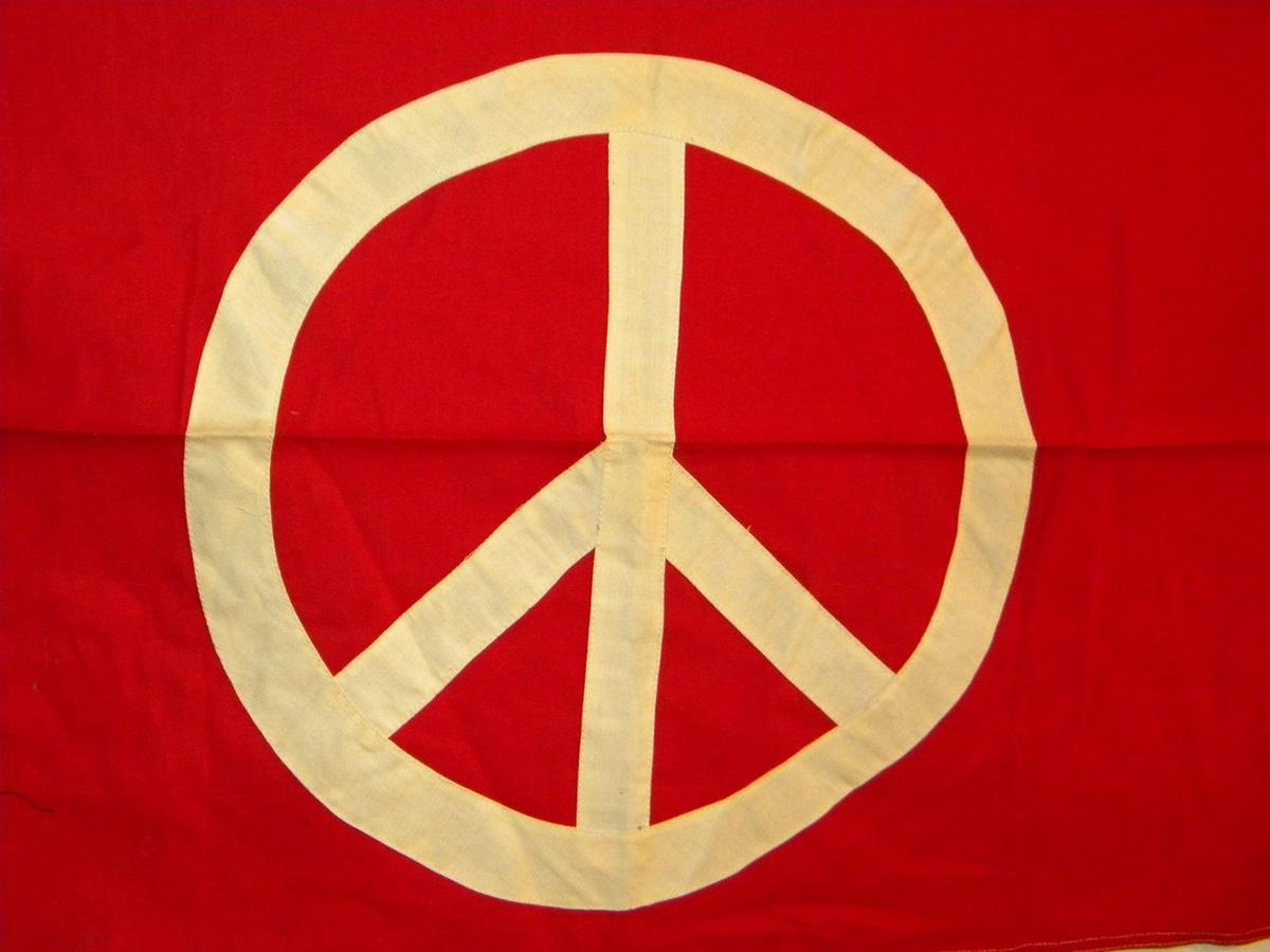 Original hippie 1960s 1970s peace sign flag 22x36 collectors 8 biocorpaavc