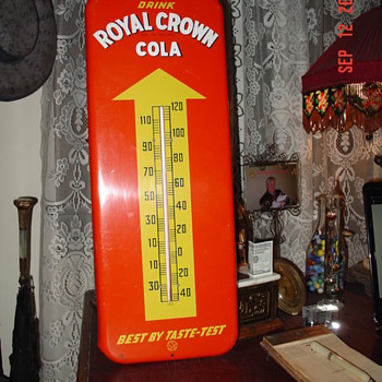 Drink Royal Crown Cola...Thermometer