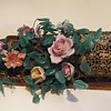 OLD Sconces w/Pottery flowers and Glass leaves~Italian French?