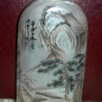 Inside Painted Glass Snuff Botttle