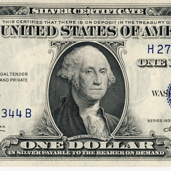 U.S. Silver Certificate -- $1, 1935 - US Paper Money