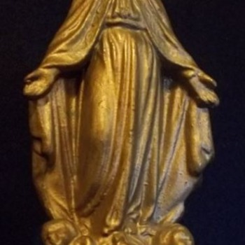 Religious Statue, Pin and Medallion