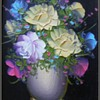 Pair of Art Pictures / Painting -- Flowers