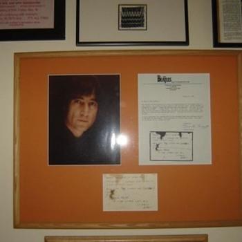 John Lennon handwritten note...1980 - Music Memorabilia