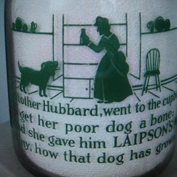 M.H.LAIPSON & CO. DAIRY...WORCESTER MASSACHUSETTS...NURSERY RHYME MILK BOTTLE - Bottles