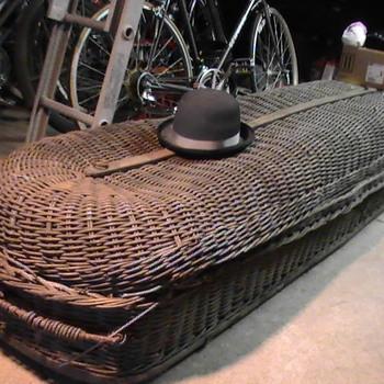 Wicker casket 1800's.