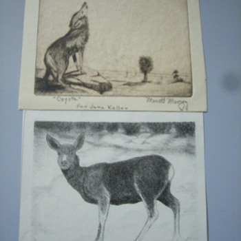 Merritt Mauzey lithographs and 2 originals