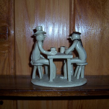 """William Ruscoe """"BEER"""" pottery figurine - Pottery"""