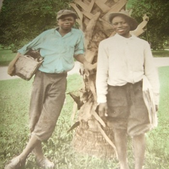 Hand tinted photograph of African American youth workers c. 1920 - Photographs