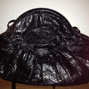 Awesome looking genuine eel vintage purse