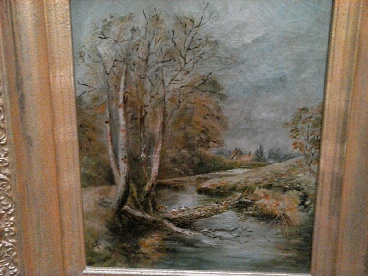 Autumn landscape oil on canvas 195 x 205 framed signed cf autumn landscape oil on canvas 195 x 205 framed signed cf 91 circa 19th century collectors weekly reviewsmspy