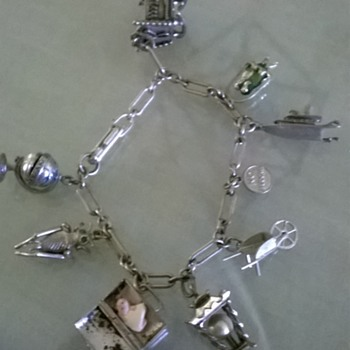 Interesting Silver Charm Bracelet - Note What's In The M.D. Bag! - Fine Jewelry