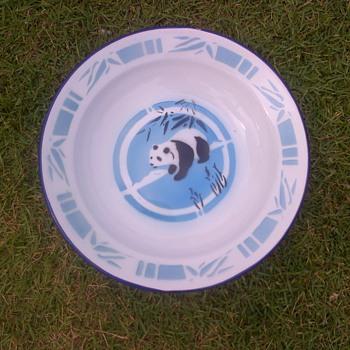 Enamel Dish with Panda design