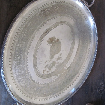 1884 Elkington Silver (on Copper) Platter  - Silver