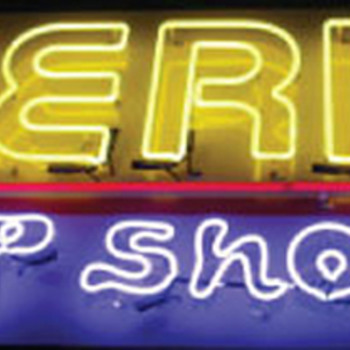 Vintage 1980's AMERICA PEEP SHOW Neon Sign / Single Sided *  - Signs