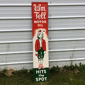 William tell oil sign - Signs