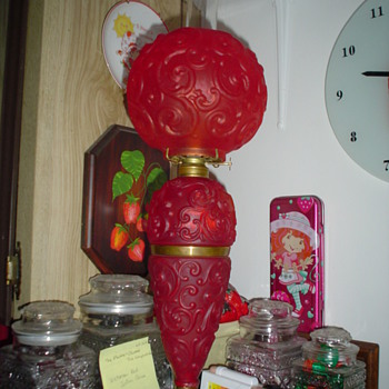 Red Satin GWTW lamp - Lamps
