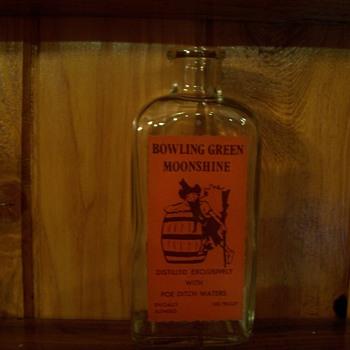 Bowling Green Ohio Poe Ditch Water Moonshine bottle, Wheaton glass - Bottles