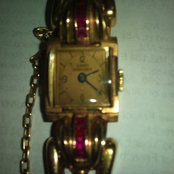 1964 Womans GIRARD PERREGAUX watch w/rubies