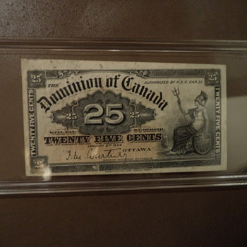 1900 Dominion Of Canada Twenty Five Cents Note - World Coins