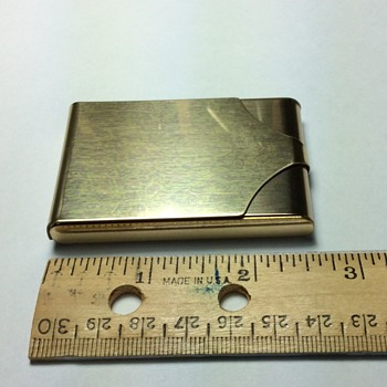 "Little Gold Tone Case Marked ""Vernon"". - Accessories"