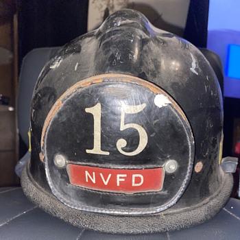 Vintage Pre 1970s North Vernon, Indiana Fire Helmet - Firefighting