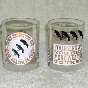 """Old Crow"" Whiskey Glasses - Glassware"