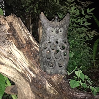 Cast Iron Owl Candle Holder Lantern - Lamps
