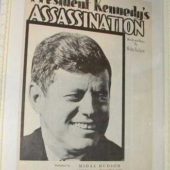 President Kennedy Assassination Sheet Music - Music Memorabilia