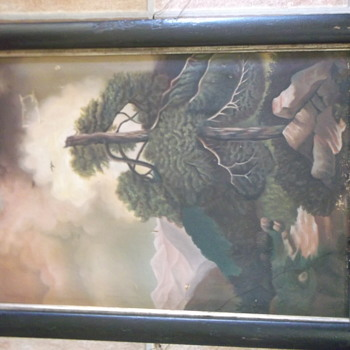 A Painting of a Dark Old Tree - Top Cut Off!!!