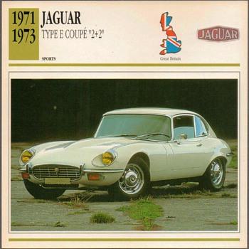 Vintage Car Card - Jaguar Type E Coupe