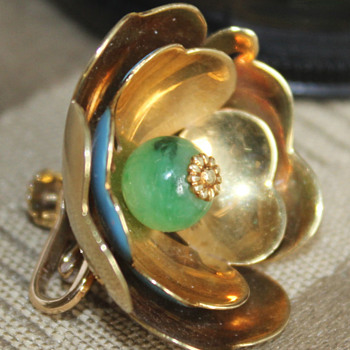 My Best ever find to date ( cost wise ) Cartier 14K yellow gold and Jade - Fine Jewelry