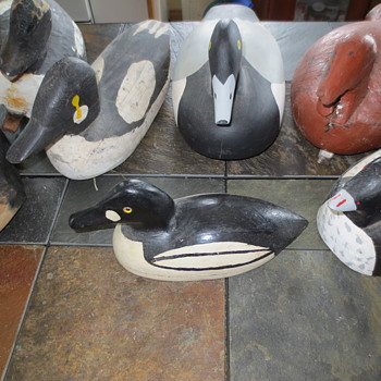 Carved decoys - Animals