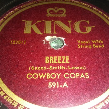 Mr. Cowboy Copas...On 78 RPM Shellac - Records