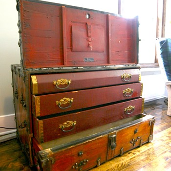 Antique Dresser Theatrical Trunk Kuntzendorf 1901 - Furniture