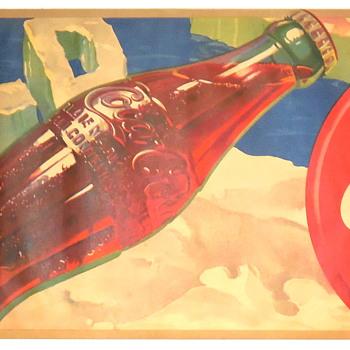 1941 Coca-Cola Fiber Banner - Coca-Cola