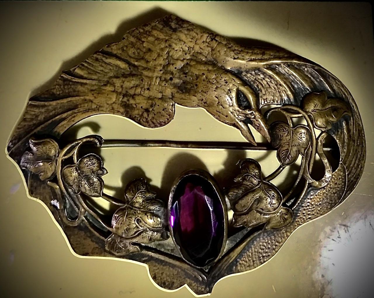 Incredible GEORGE STEERE Edwardian Era Sash Pin