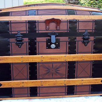 Newly Restored Leather Trunk - Furniture