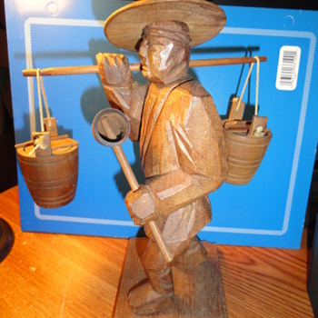 wooden chinese man - Asian